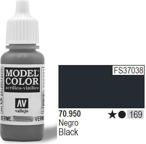 Vallejo Farba Nr169 Black Matt 17ml - 70950 1