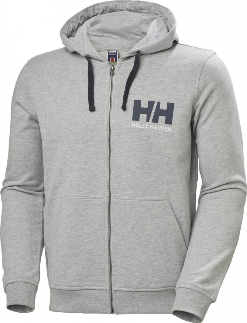 Helly Hansen Bluza męska HH Logo Full Zip Hoodie Grey Melange r. XL (34163_949-XL) 1