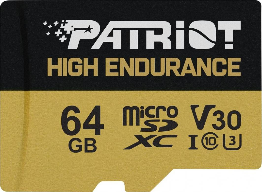 Karta Patriot EP High Endurance MicroSDXC 64 GB Class 10 UHS-I/U3 V30 (PEF64GE31MCH) 1