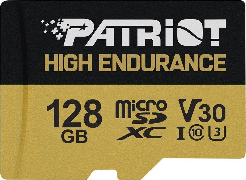 Karta Patriot High Endurance MicroSDXC 128 GB Class 10 UHS-I/U3 V30 (PEF128GE31MCH) 1