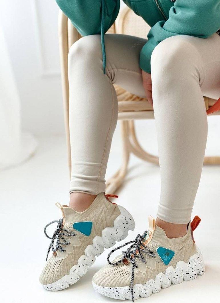 PS1 Damskie Sportowe Buty Skarpetkowe Beżowe Fashion Pioneer 40 1