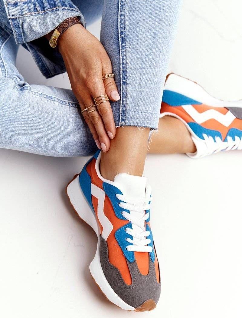 PS1 Damskie Sportowe Buty Sneakersy Pomarańczowe Move On 39 1