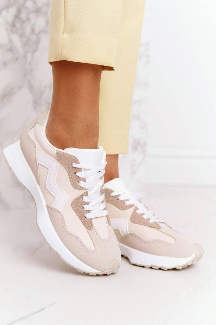 PS1 Damskie Sportowe Buty Sneakersy Beżowe Move On 37 1