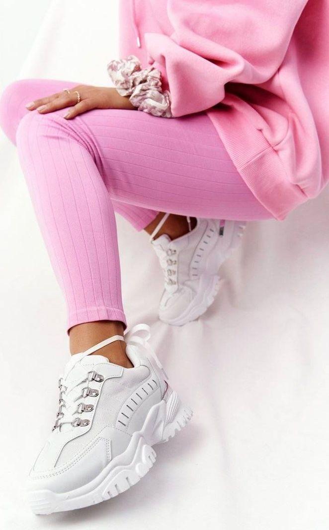 PS1 Damskie Sneakersy Na Dużej Podeszwie Białe Good Mood 39 1