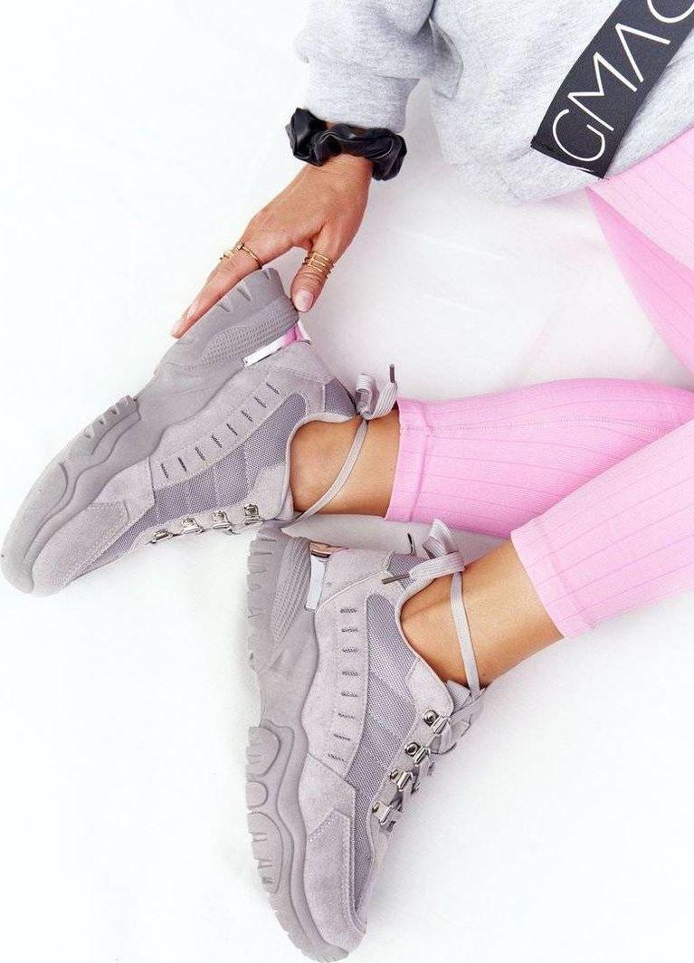 PS1 Damskie Sneakersy Na Dużej Podeszwie Szare Good Mood 40 1