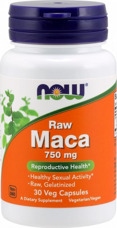 NOW Foods NOW Foods - Maca 6:1 Concentrate, 750mg RAW, 30 vkaps 1