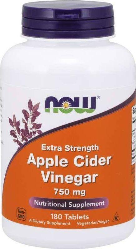 NOW Foods Now Foods - Ocet jabłkowy, 750mg, 180 tabletek 1