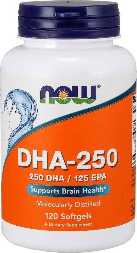 NOW Foods NOW Foods - DHA-250, 250 DHA / 100 EPA, 120 kapsułek miękkich 1