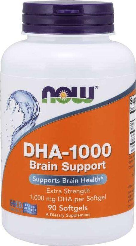 NOW Foods Now Foods - DHA-1000 Brain Support, 90 kapsułek miękkich 1