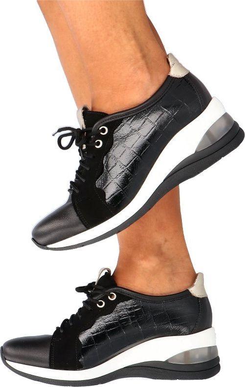 Tymoteo TYMOTEO MALDA CZARNY - Wygodne sneakersy 38 1