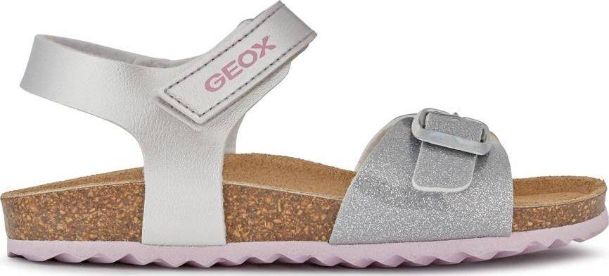 Geox GEOX Srebrne Sandały J028MC 33 1