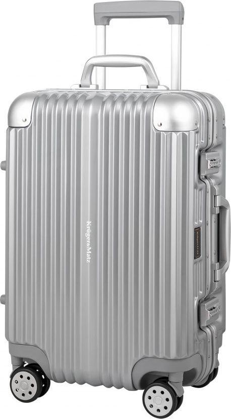 Kruger&Matz Kabinowa walizka na kółkach KM0297-S srebrna 1