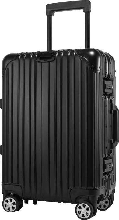 Kruger&Matz Duża walizka aluminiowa na kółkach czarna 1