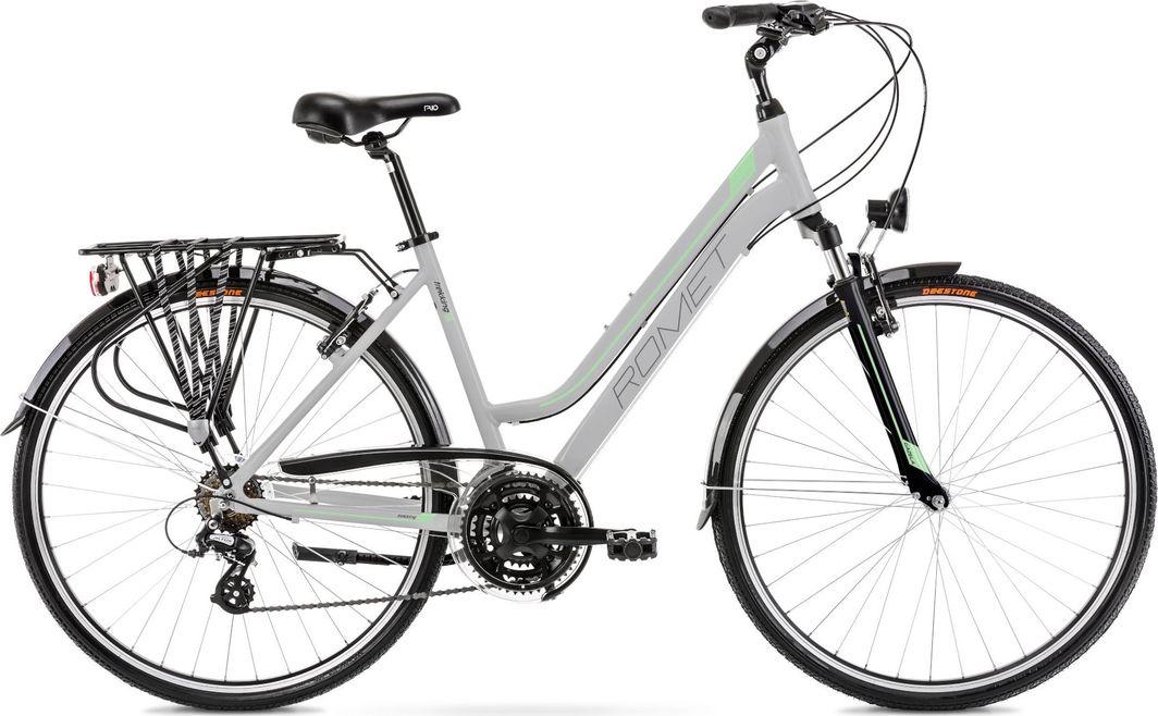 """Romet Rower Gazela 1 M (17"""")  jasnoszary/zielony 1"""