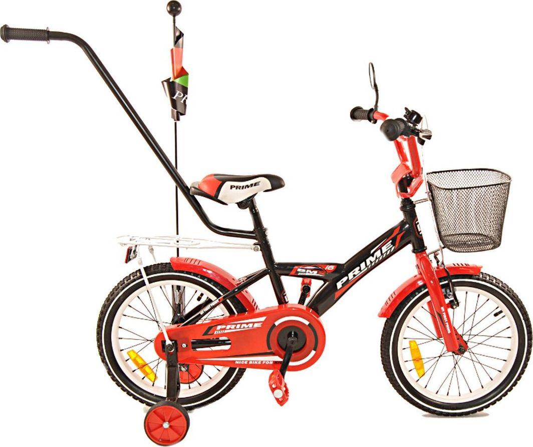 Fuzlu Rower dziecięcy 16 PRIME czerwony-czarny 1