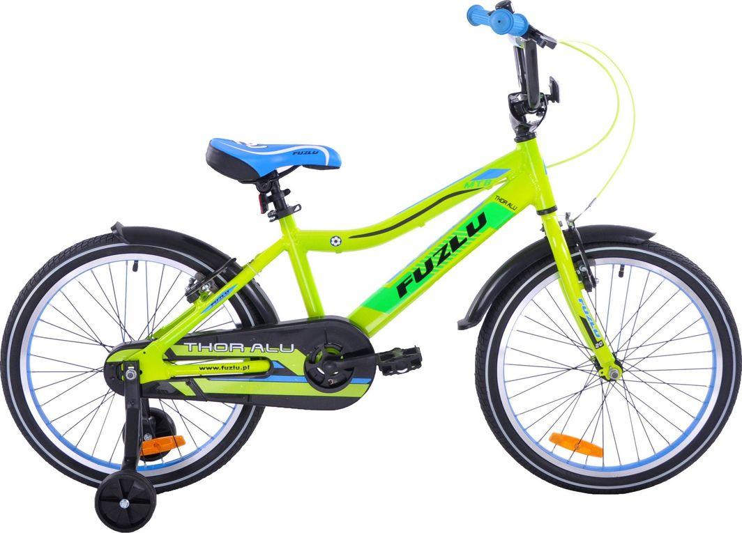 Fuzlu Rower dziecięcy 20 Thor aluminiowy żółto-zielony 1