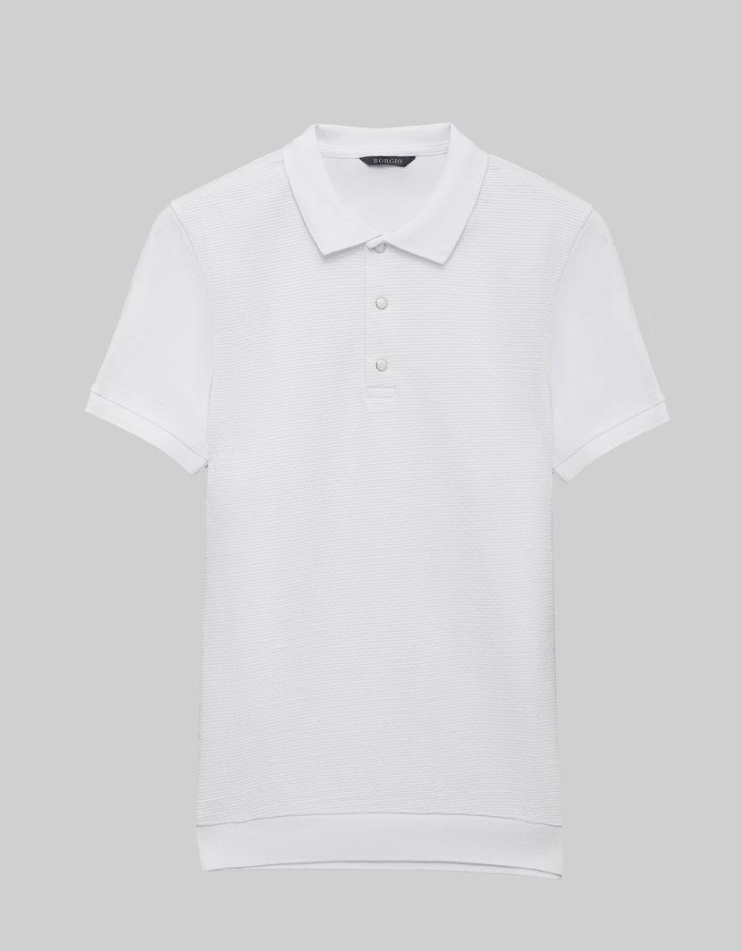 BORGIO koszulka męska polo pianella biały rozmiar L 1