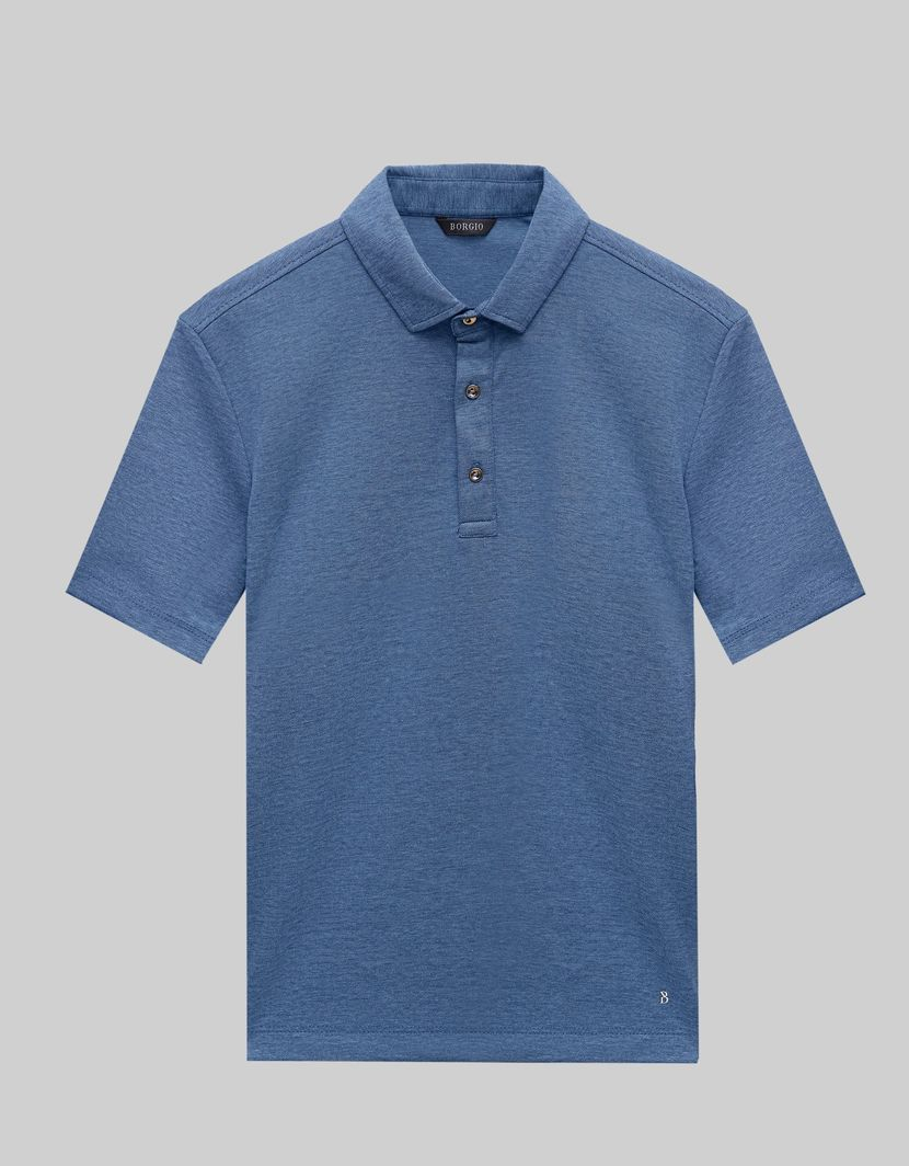 BORGIO koszulka męska polo popoli niebieski rozmiar M 1