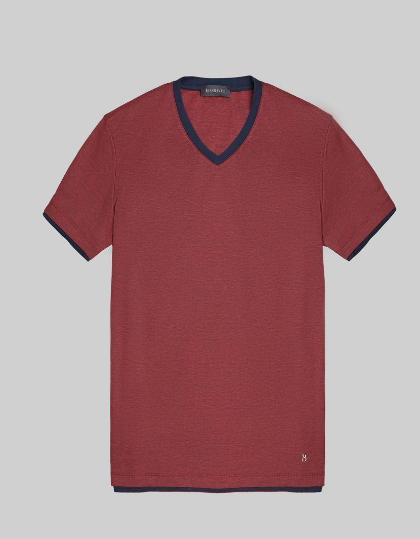 BORGIO t shirt męski cannobio bordo rozmiar M 1