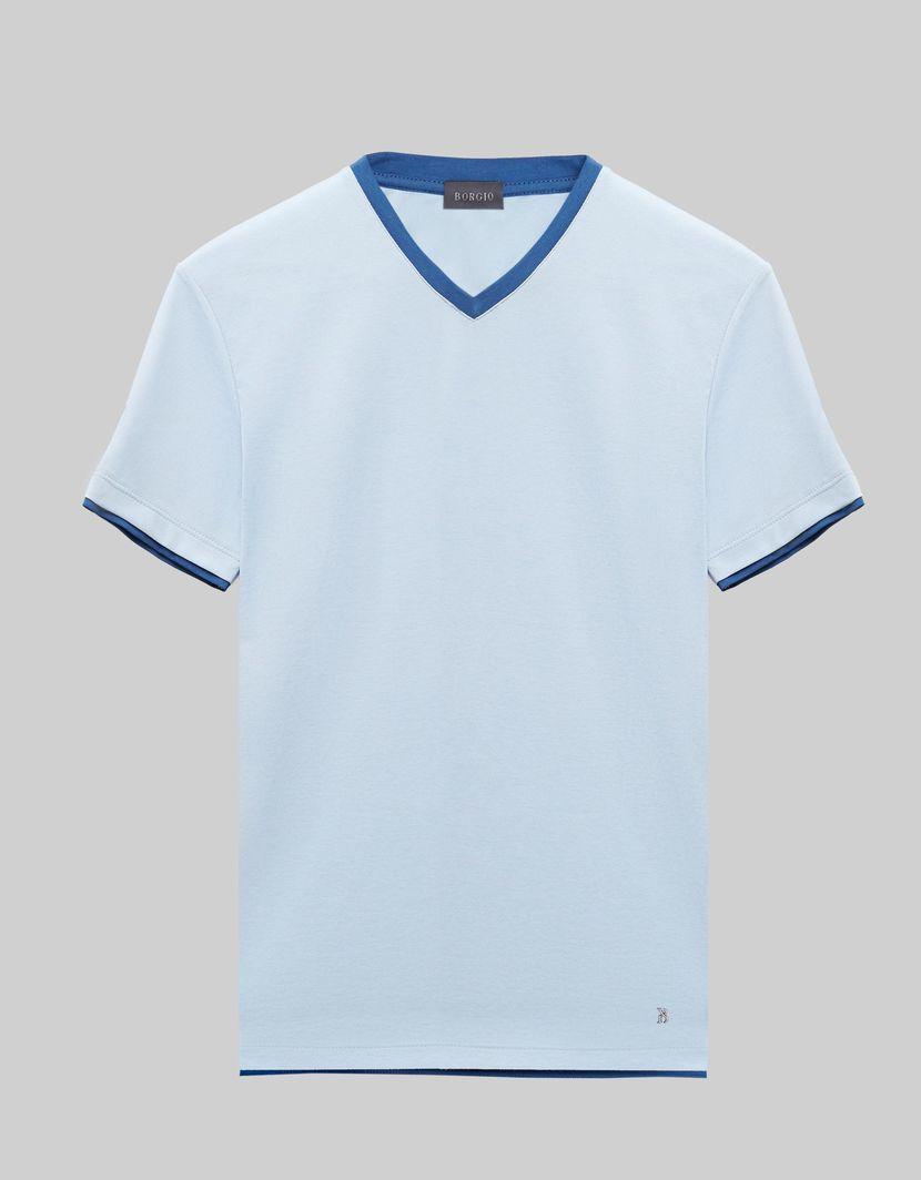 BORGIO t shirt męski cannobio błękit rozmiar L 1