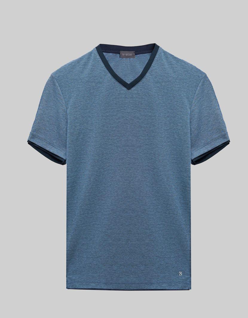 BORGIO t shirt męski cannobio niebieski rozmiar XXL 1
