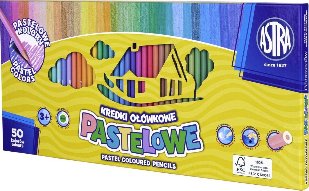 Astra Kredki pastelowe okrągłe 50 kolorów Astra 1