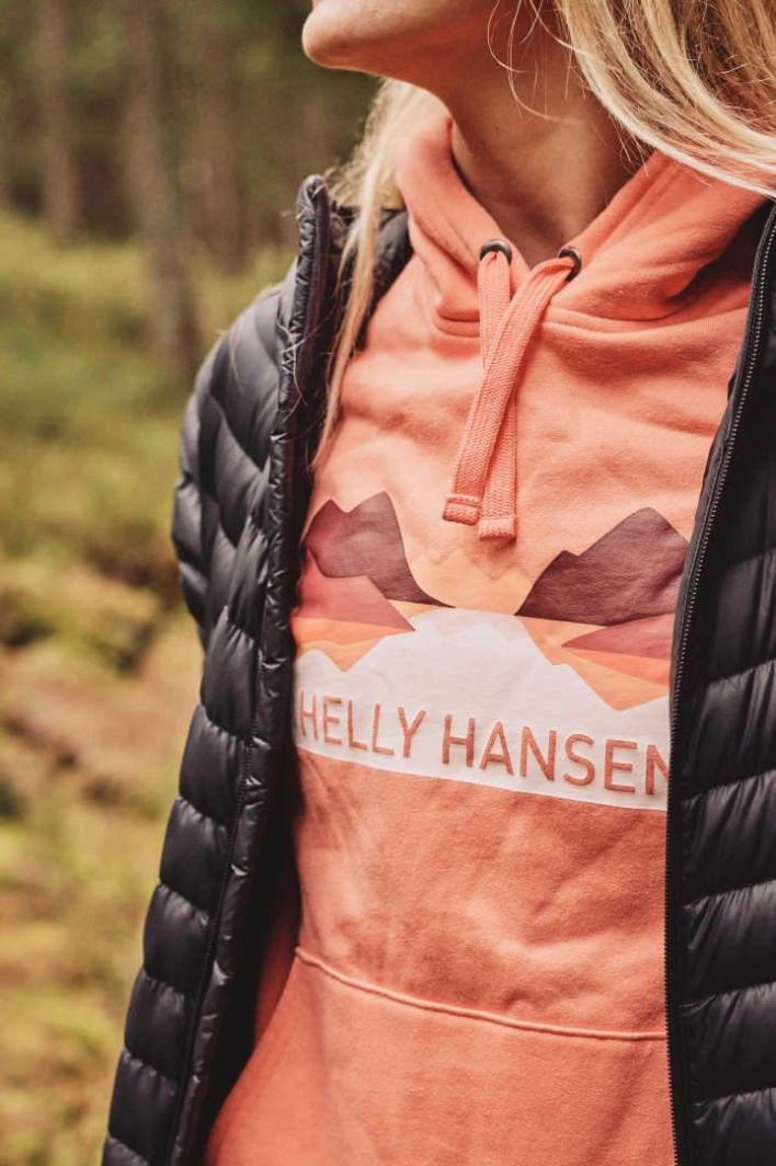 Helly Hansen Bluza damska W NORD GRAPHIC PULLOVER HOODIE Peach Echo r. M (62981_284) 1