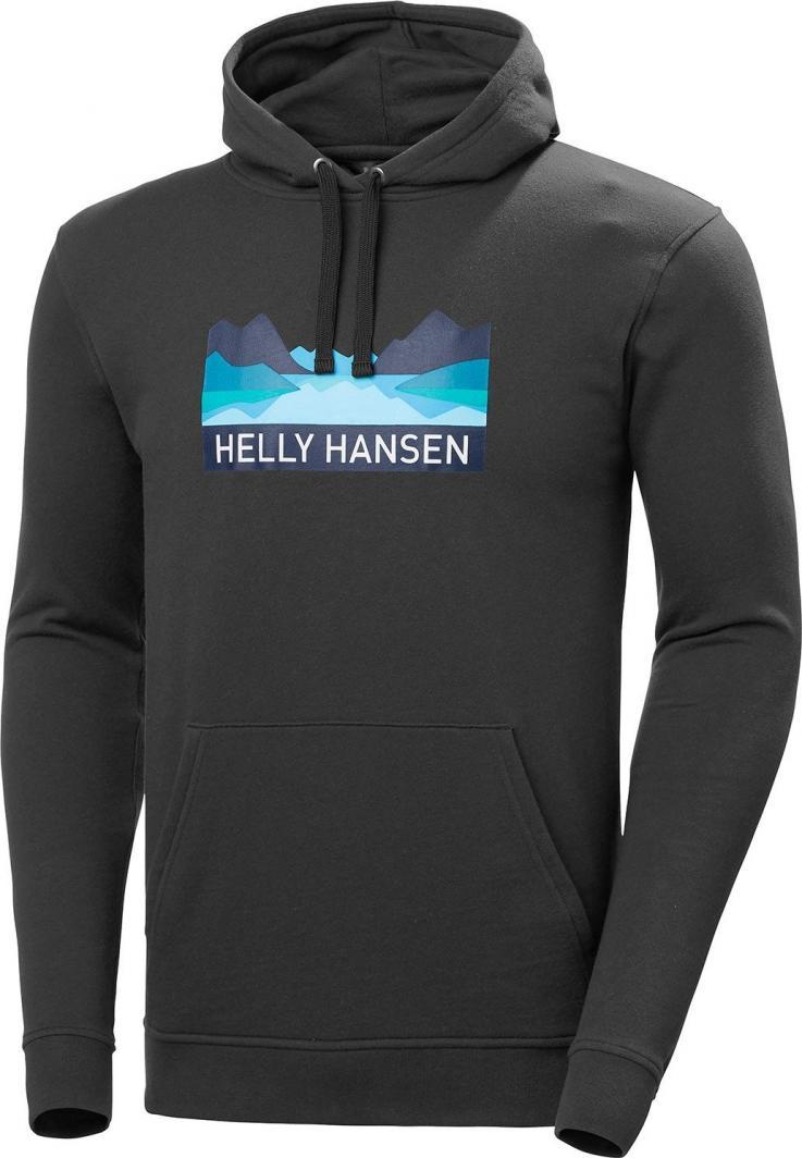 Helly Hansen Bluza męska NORD GRAPHIC PULL OVER HOODIE Ebony r. L (62975_980) 1