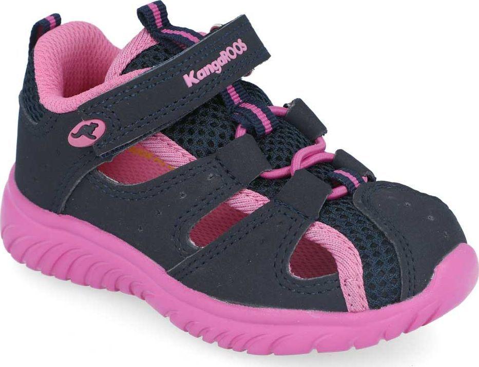 Kangaroos Sandałki dziewczęce KangaROOS 02058 granatowy z różowym 26 1