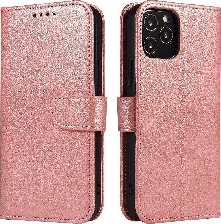 Hurtel Magnet Case elegancki futerał etui pokrowiec z klapką i funkcją podstawki Samsung Galaxy S20 Ultra różowy 1