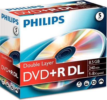 Philips DVD+R 8,5GB 5szt. (DR8S8J05C/00) 1
