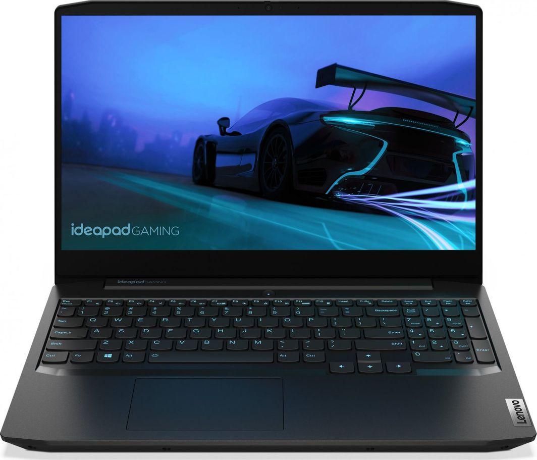 "Laptop Lenovo Lenovo IdeaPad Gaming 3 15ARH05 Ryzen 5 4600H 15.6"" FHD IPS 250nits Anti-glare 8GB DDR4-3200 GeForce GTX 1650 Ti 4GB FreeDOS 82EY00EFPB Onyx Black 1"