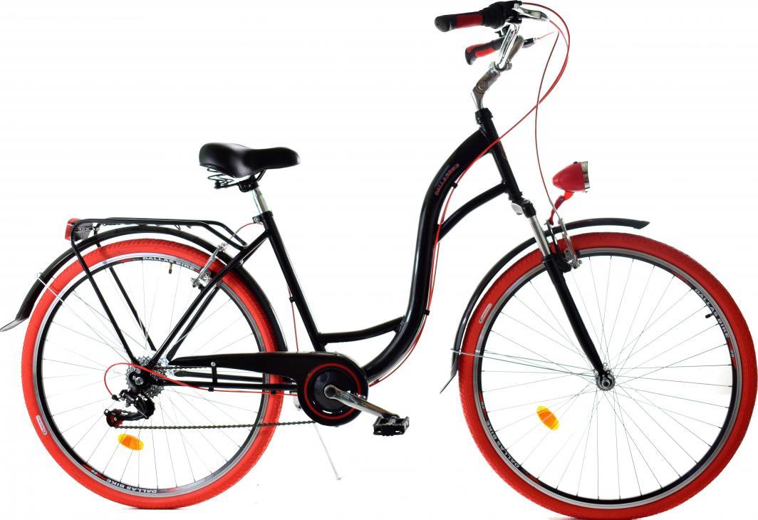 Dallas Bike Rower miejski 28'' 7-biegowy czarny z czerwonym SPD LUX 1