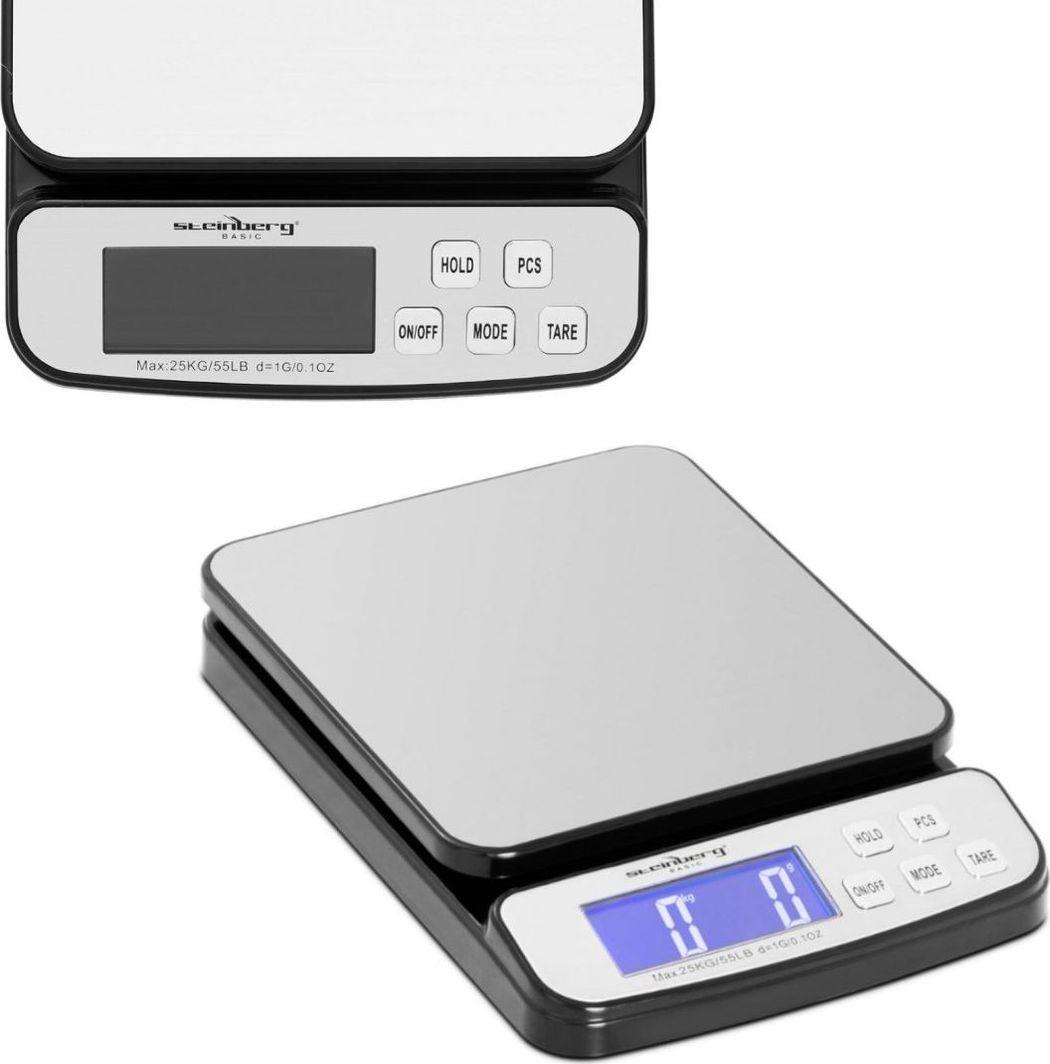 Waga kuchenna Steinberg Waga pocztowa do paczek i listów LCD do 25 kg / 1 g Waga pocztowa do paczek i listów LCD do 25 kg / 1 g 1