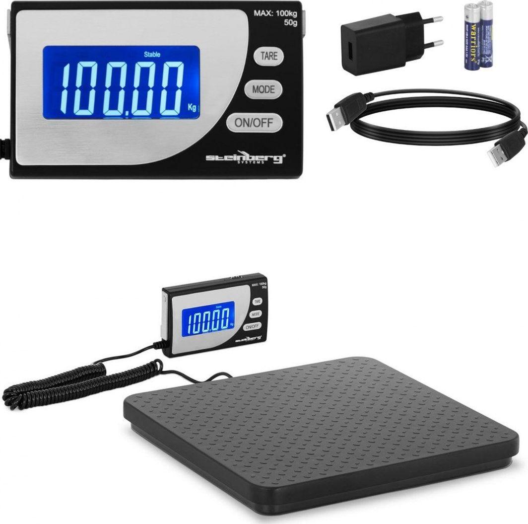 Waga kuchenna Steinberg Waga przemysłowa paczkowa do 100 kg / 0.1 g LCD USB Waga przemysłowa paczkowa do 100 kg / 0.1 g LCD USB 1