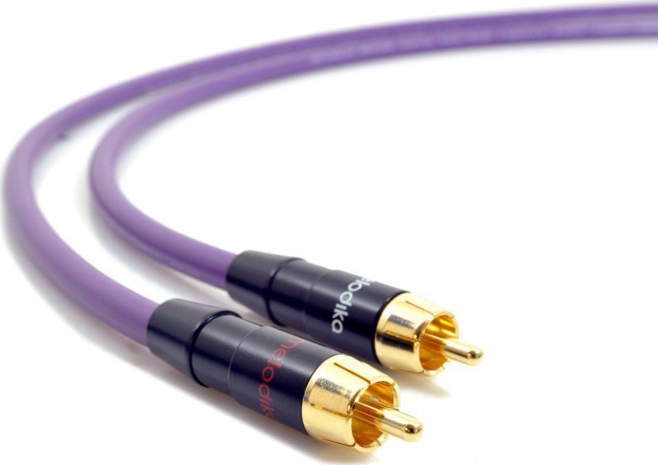 Kabel Melodika RCA (Cinch) x2 - RCA (Cinch) x2 0.5m fioletowy 1