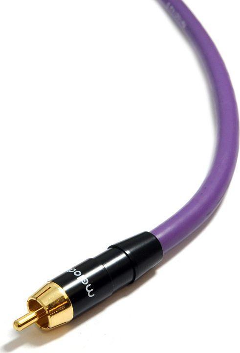 Kabel Melodika RCA (Cinch) - RCA (Cinch) 0.75m fioletowy 1