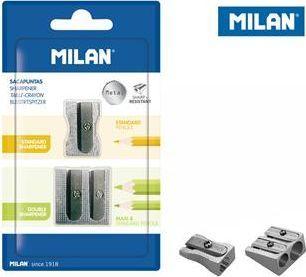 Milan Temperówki aluminiowe Milan pojedyncza i podwójna 2 szt. na blistrze 1