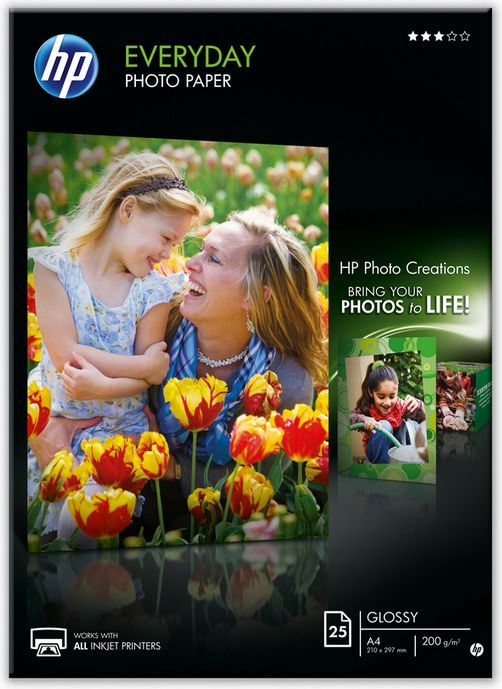 HP papier Everyday Semi-glossy Photo A4 (Q5451A) 25 ark 1