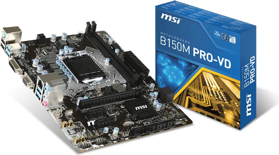 Płyta główna MSI B150M PRO-VD, B150, DDR4, SATA3, USB 3.1, mATX (B150M PRO-VD) 1