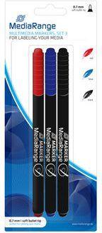 MediaRange Markery do płyt 3 kolory (MR701) 1