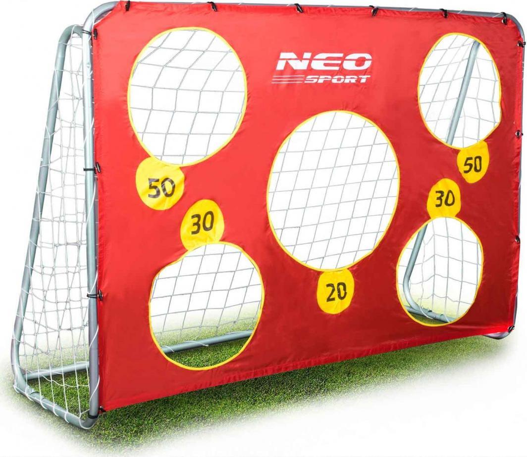 Neo-Sport Duża bramka do piłki nożnej piłkarska 215x153x76cm+mata celownicza 1