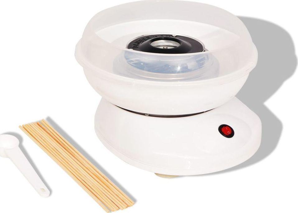 vidaXL Urządzenie do robienia waty cukrowej 480 W, białe 1