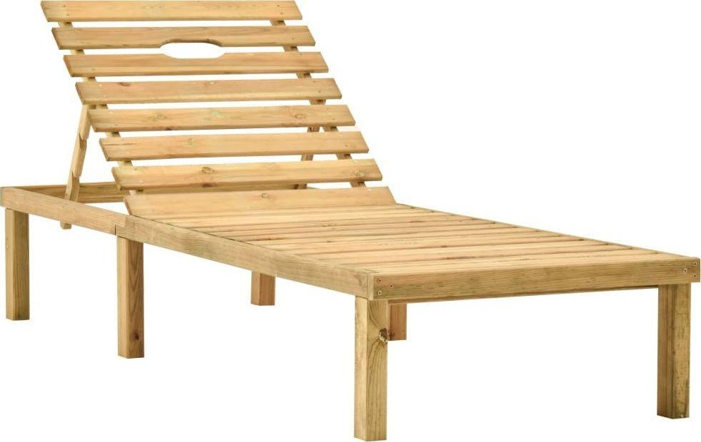vidaXL Leżak ogrodowy, impregnowane drewno sosnowe (315396) 1