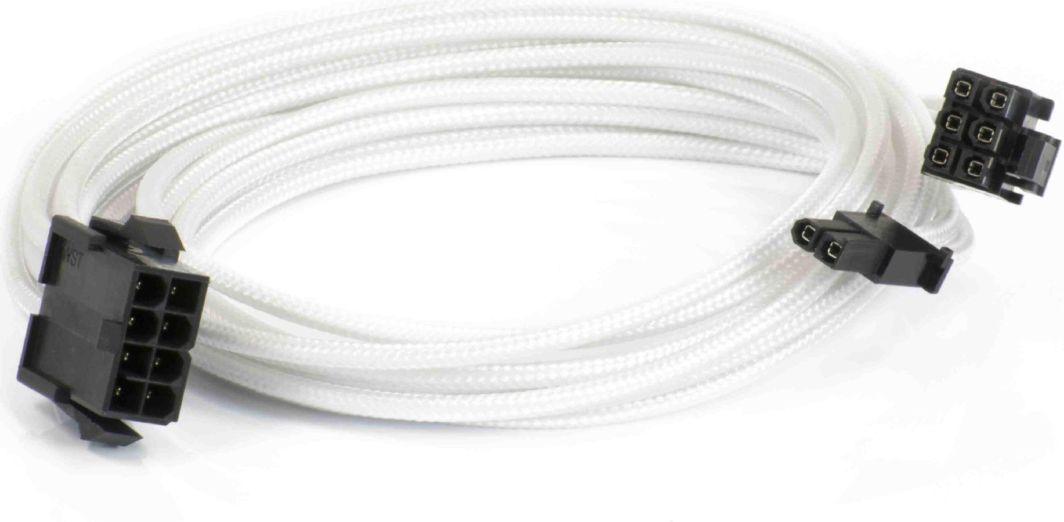 Phanteks Kabel przedłużający 6+2-Pin PCIe, 50cm, biały (PH-CB8V_WT) 1