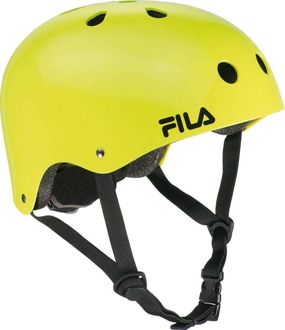 FILA Uniwersalny kask do jazdy na rolkach FS NRK FUN - limonkowy r. S/M 49-54 cm 1