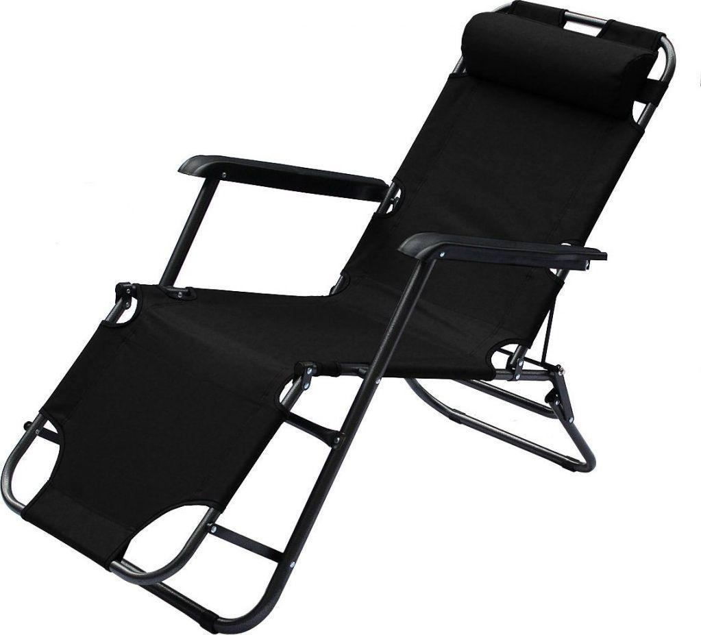 Royokamp  Fotel wielopozycyjny Level z zagłówkiem czarny 1