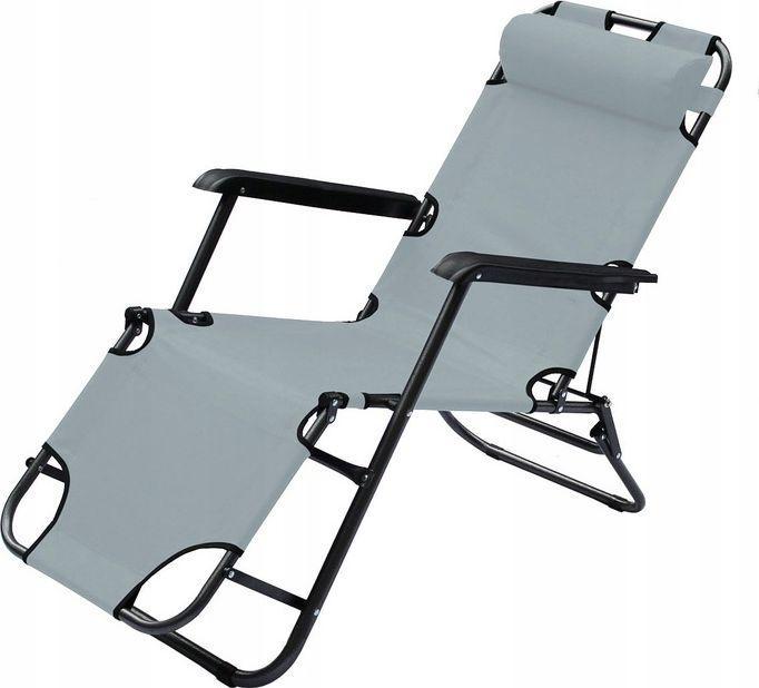Royokamp  Fotel wielopozycyjny Level z zagłówkiem szary 1