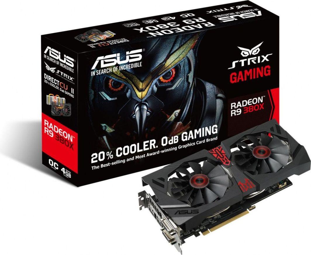 Karta graficzna Asus Radeon R9 380X 4GB GDDR5 (256Bit) 2xDVI/HDMI/DP (STRIX-R9380X-OC4G-GAMING) 1