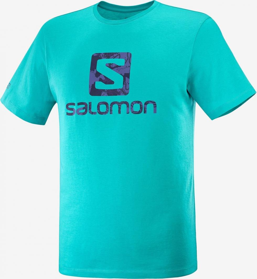 Salomon Koszulka męska OUTLIFE LOGO SS TEE M-BALTIC-Astral r. L 1